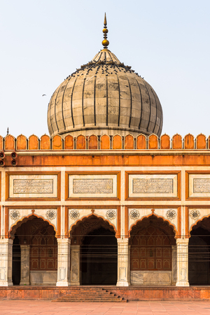 Jama Masjid, Old town of Delhi, India. It is the principal mosque in Delhi Stock Photo