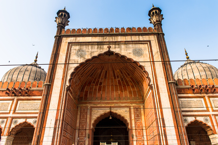 Jama Masjid, Old town of Delhi, India. It is the principal mosque in Delhi Foto de archivo