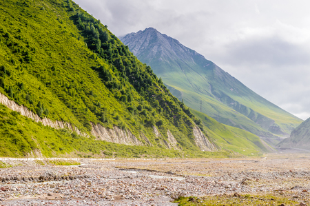 Beautiful nature and many beautiful rocks and mountains in summer