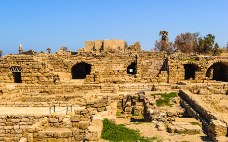 Roman ruins in Israel (Caesarea Maritima)