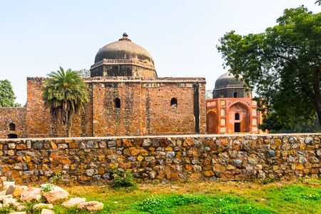 Part of the Humayuns Tomb complex,the tomb of the Mughal Emperor Humayun in Delhi, India.