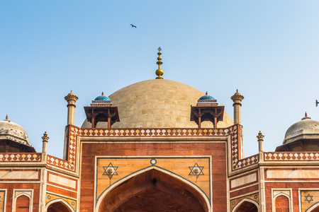 Humayuns Tomb complex,the tomb of the Mughal Emperor Humayun in Delhi, India.