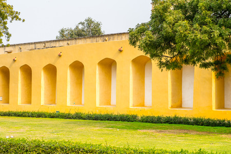 Jantar Mantar, Jaipur, Rajasthan, a collection of 19 architectural astronomical instruments completed in 1738.