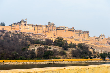 Amer Fort (Amber Fort and Amber Palace), a town near Jaipur, Rajasthan state, India. UNESCO World Heritage Site as part of the group Hill Forts of Rajasthan.