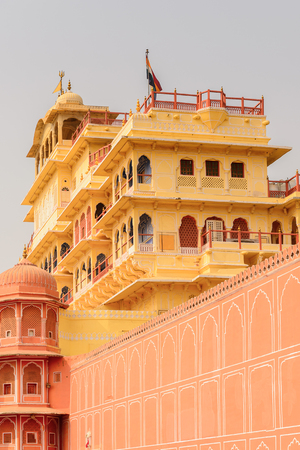 Chandra Maha at the City Palace, a palace complex in Jaipur, Rajasthan, India. It was the seat of the Maharaja of Jaipur, the head of the Kachwaha Rajput clan.