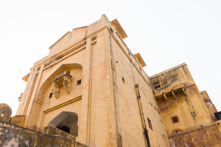 Part of the Amer Fort (Amber Fort and Amber Palace), a town near Jaipur, Rajasthan state, India. The site as part of the group Hill Forts of Rajasthan.