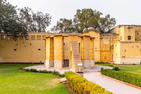 Part of the Jantar Mantar, Jaipur, Rajasthan, a collection of 19 architectural astronomical instruments completed in 1738. 스톡 콘텐츠