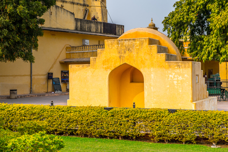 Part of the Jantar Mantar, Jaipur, Rajasthan, a collection of 19 architectural astronomical instruments completed in 1738. UNESCO World Heritage Editorial