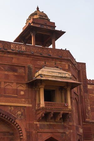 Architecture of the Fatehpur Sikri, a city in the Agra District of Uttar Pradesh, India. UNESCO World Heritage site.