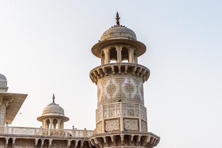 Itmad-Ud-Daulah Mausoleum (Jewel Box or the Baby Taj) in Agra, Uttar Pradesh, India. It was referred as a draft for Taj Mahal Stock Photo
