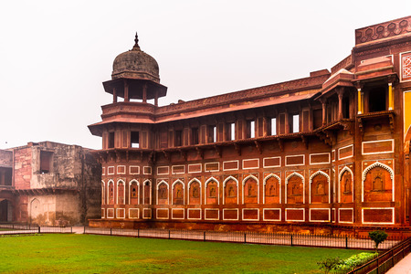 Jahangir Palace at the Red Fort of Agra, India.