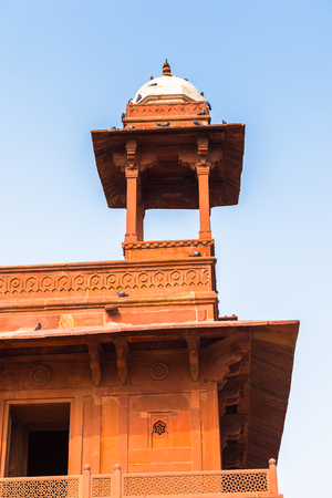 Diwan-i-Khas at the Fatehpur Sikri, a city in the Agra District of Uttar Pradesh, India. UNESCO World Heritage site.