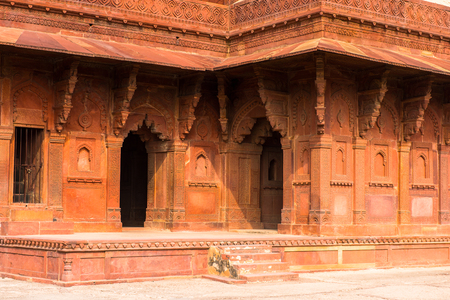 Architecture of the Fatehpur Sikri, a city in the Agra District of Uttar Pradesh, India.