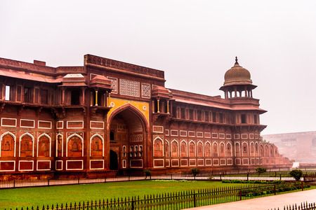 Jahangir Palace at the Red Fort of Agra, India. UNESCO World Heritage site.