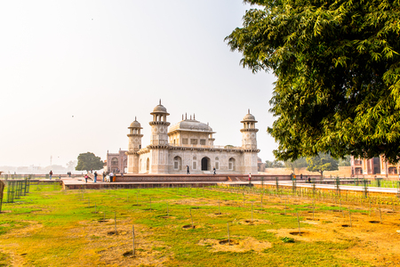 Itmad-Ud-Daulah Mausoleum (Jewel Box or the Baby Taj) in Agra, Uttar Pradesh, India. It was referred as a draft for Taj Mahal Stock Photo