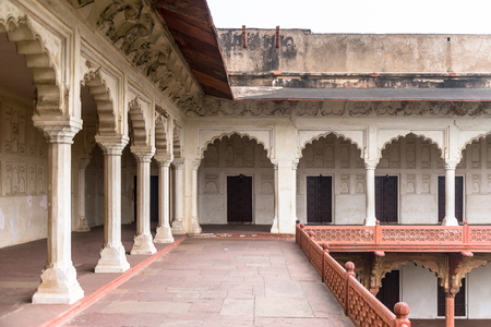 Part of the Red Fort of Agra, India.