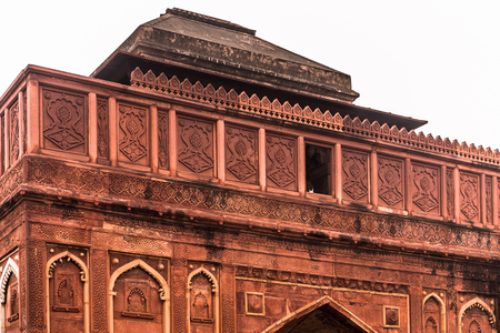Part of the Red Fort of Agra, India. UNESCO World Heritage site. Editorial