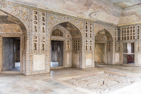Diwan I Am (Hall of Public Audience) at the Red Fort of Agra, India. UNESCO World Heritage site.