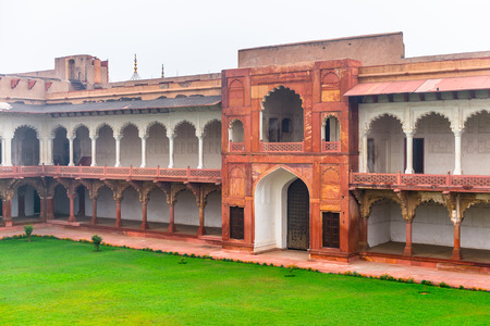 Part of the Red Fort of Agra, India. UNESCO World Heritage site. Редакционное