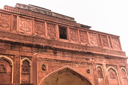 Jahangir Palace at the Red Fort of Agra, India