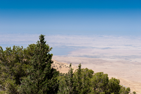 Holy Land, view from the Mount Nebo, the place where Moses was granted a view of the Promised Land that he would never enter. Stockfoto