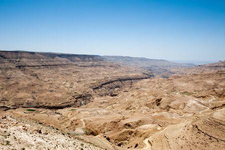 Desert nature from above, Jordan Stock Photo