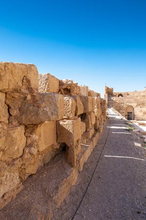 Kerak Castle, a large crusader castle in Kerak (Al Karak) in Jordan. Editorial