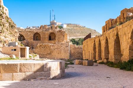 Lower court in the Kerak Castle, a large crusader castle in Kerak (Al Karak) in Jordan.
