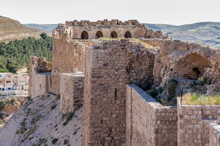 Part of the Kerak Castle, a large crusader castle in Kerak (Al Karak) in Jordan.