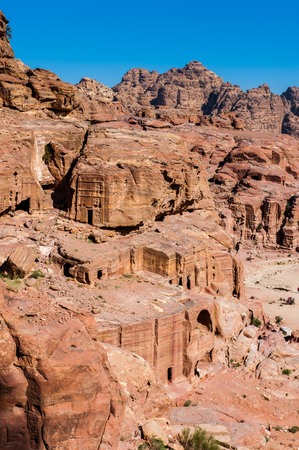 Beautiful landscape of Petra (Rose City), Jordan. Petra is one of the New Seven Wonders of the World.
