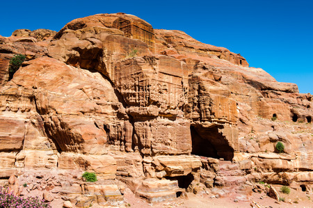 Rocks in Petra (Rose City), Jordan. Petra is one of the New Seven Wonders of the World.