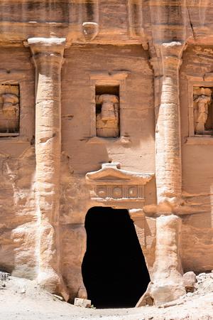 Ancient rock cut architecture of Petra, Jordan