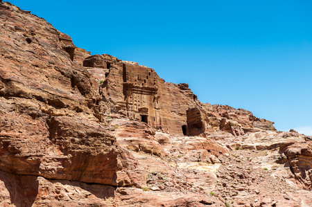 One of the multiple caves in Petra, Jordan