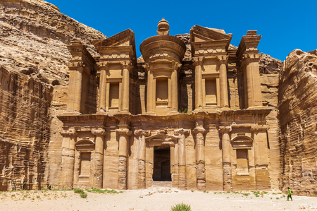 Ad Dayr Monastery, Petra, one of the New Sewen Wonders of the World, Jordan Stock Photo