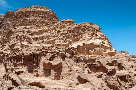 Beautiful Nature of Petra Stock Photo