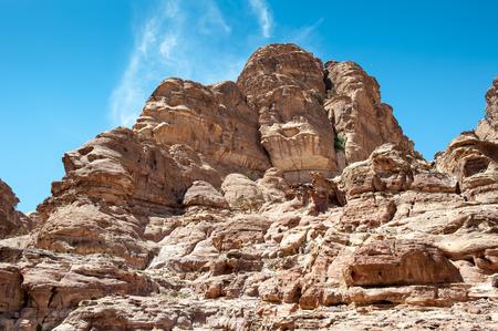 Landscape of the mountains in Petra, Jordan