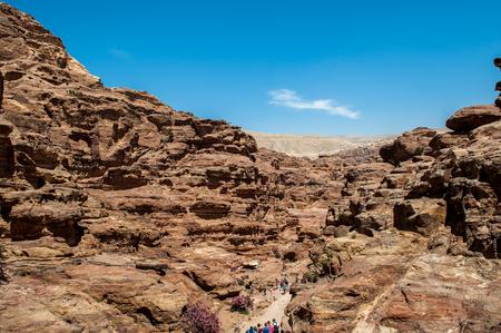 Mountains of Petra, Jordan Stock Photo