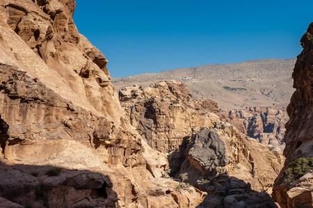 Rocks and nature in Petra, Jordan