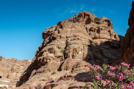 Nature and mountains of Petra, Jordan