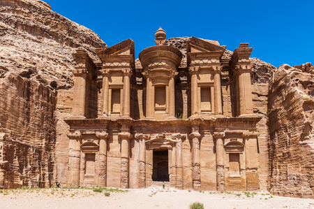 Ad Dayr Monastery, Petra, one of the New Sewen Wonders of the World, Jordan 免版税图像