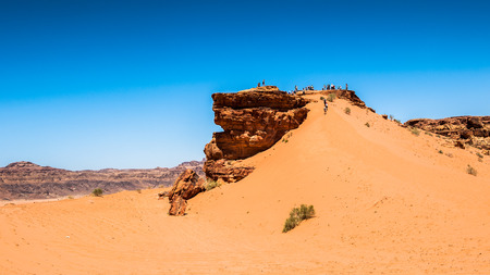 Nature and rocks of Wadi Rum (Valley of the Moon), Jordan. Stock Photo