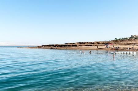 Shore of the Dead Sea Stock Photo
