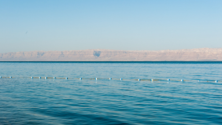 Landscape of the Dead Sea Stock Photo