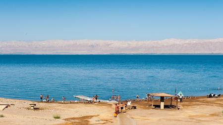 Landscape of the Dead Sea Stock Photo