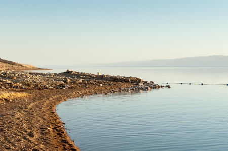 Coast of the Dead Sea, Israel, the deepest hypersaline lake in the world.