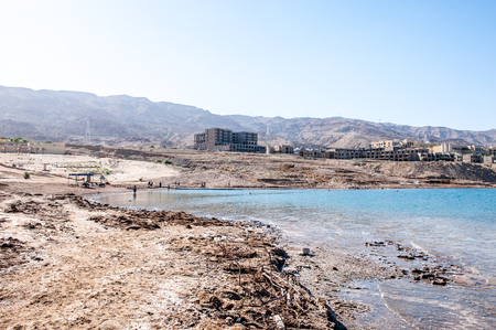Costa do mar morto, Israel Foto de archivo - 91894824