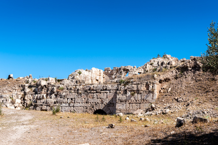 Ruins of the ancient city of Gadara, modern Jordan