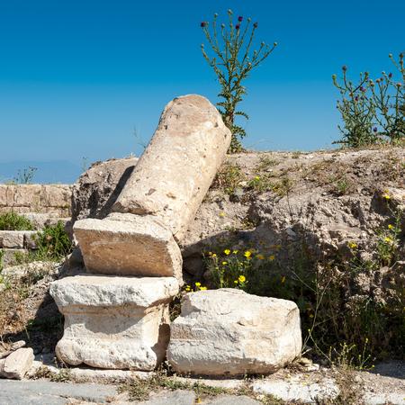 Colums of the ancient city of Gadara, modern Jordan