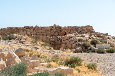 Roman ruins in Umm ar-Rasas,an archeological site in Jordan.