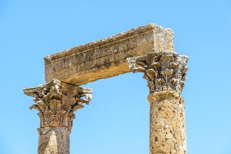 Roman columns of the ancient city of Gerasa, Jerash, Jordan